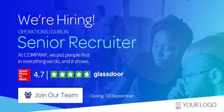 Recruitment ad builder for Linkedin, Facebook, Twitter and Instagram